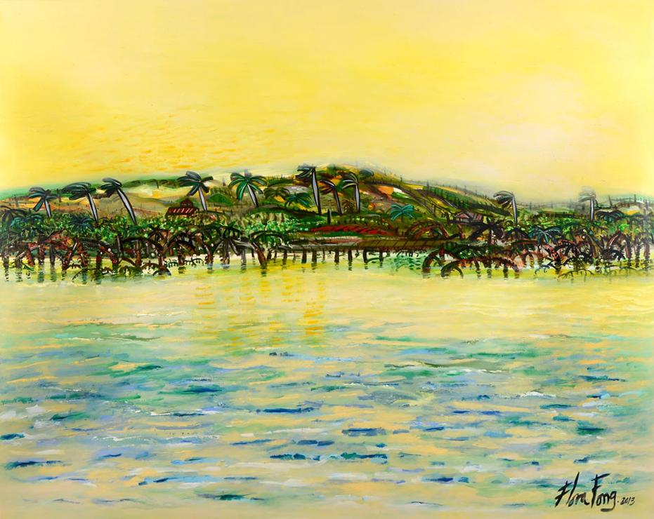 Flora Fong: Mares del Mariel (The Seas of Mariel) 2013 - 172.5 x 215 cm