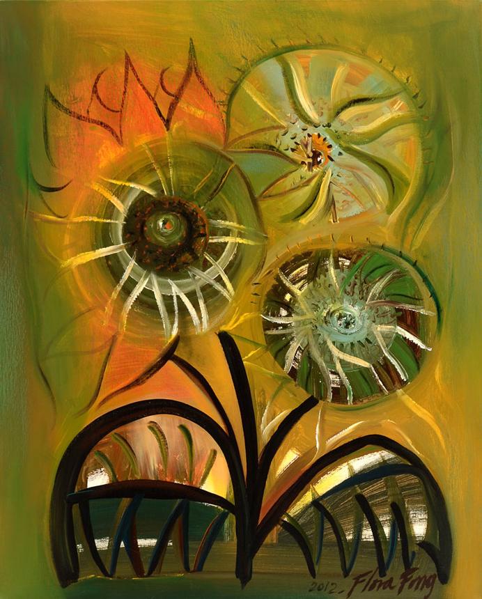Tres girasoles by Flora Fong