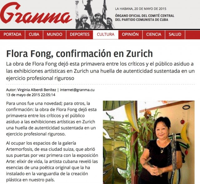 Flora Fong and ArteMorfosis in Granma