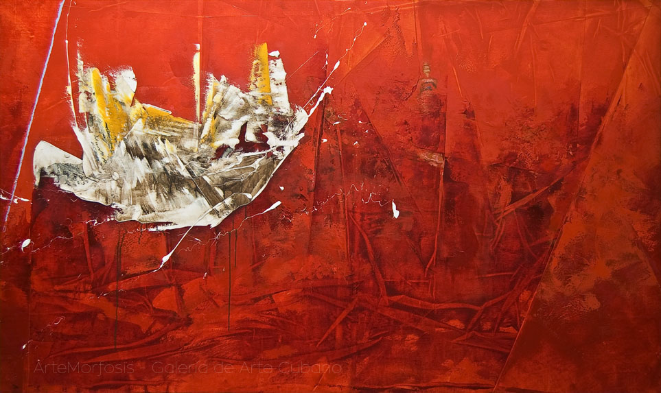 Gilberto Frómeta - ROJA VASTEDAD | RED VASTNESS,  125 x 210 cm, Oil on canvas, 2010