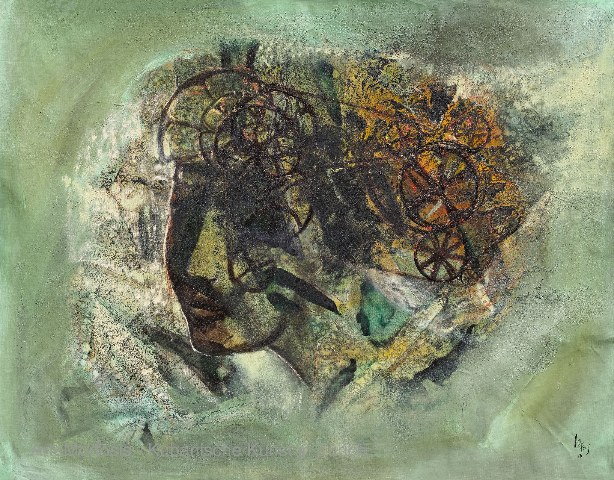Li D Fong: Mecánica del recuerdo / Mechanics of Memory - Mixed on Canvas - 2016 - 92 x 118 cm