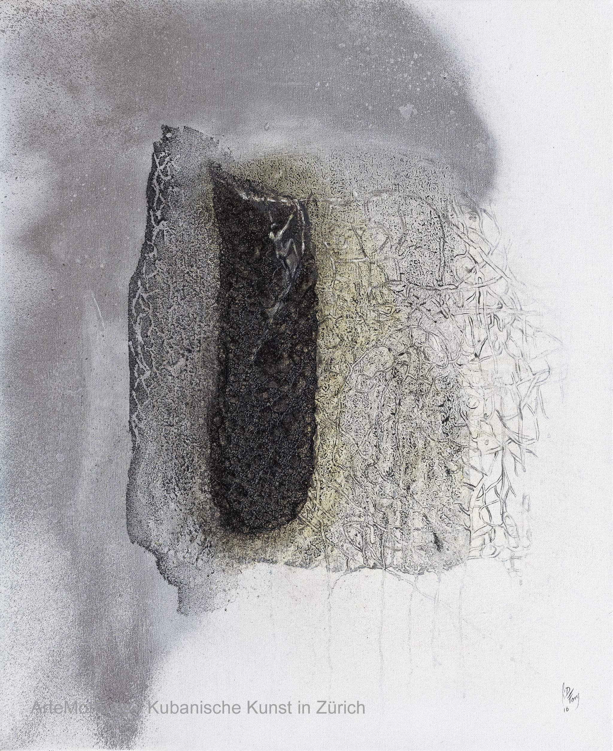 Li D Fong: Sobreviviente / Survivor Mixed on Canvas, 2016 80 x 65 cm