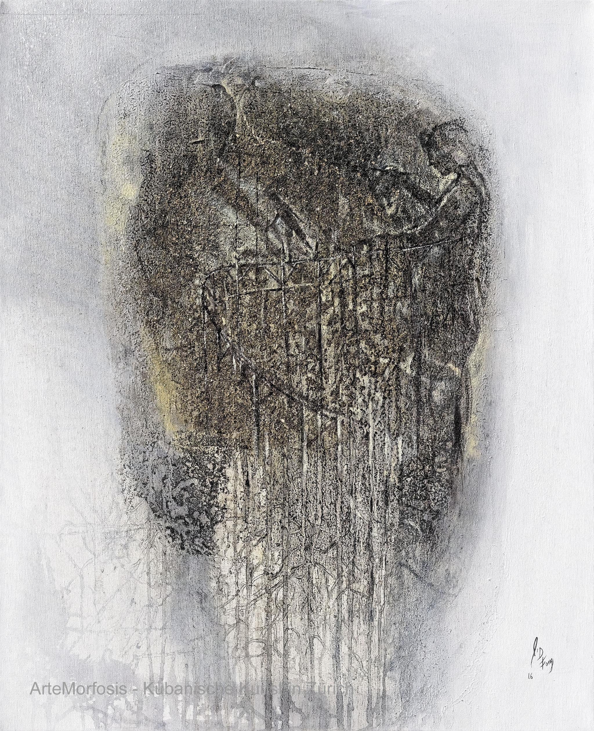 Li D Fong: Escenario I / Scenario 1 - Mixed on Canvas - 2016 - 80 x 65 cm