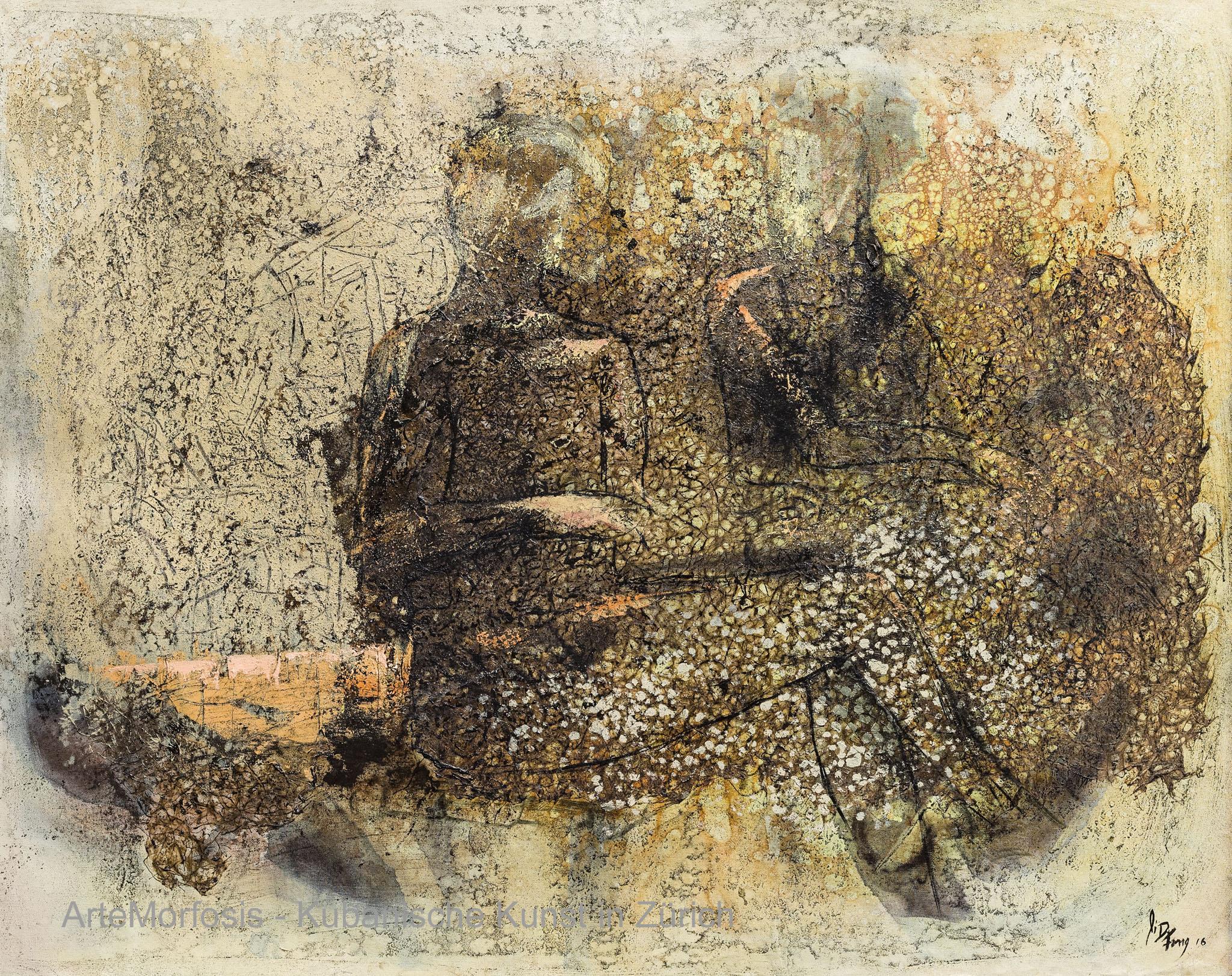 Li D Fong: Hablando de ilusion / Talking about Illusion / Mixed on Canvas - 2016 - 91 x 117 cm
