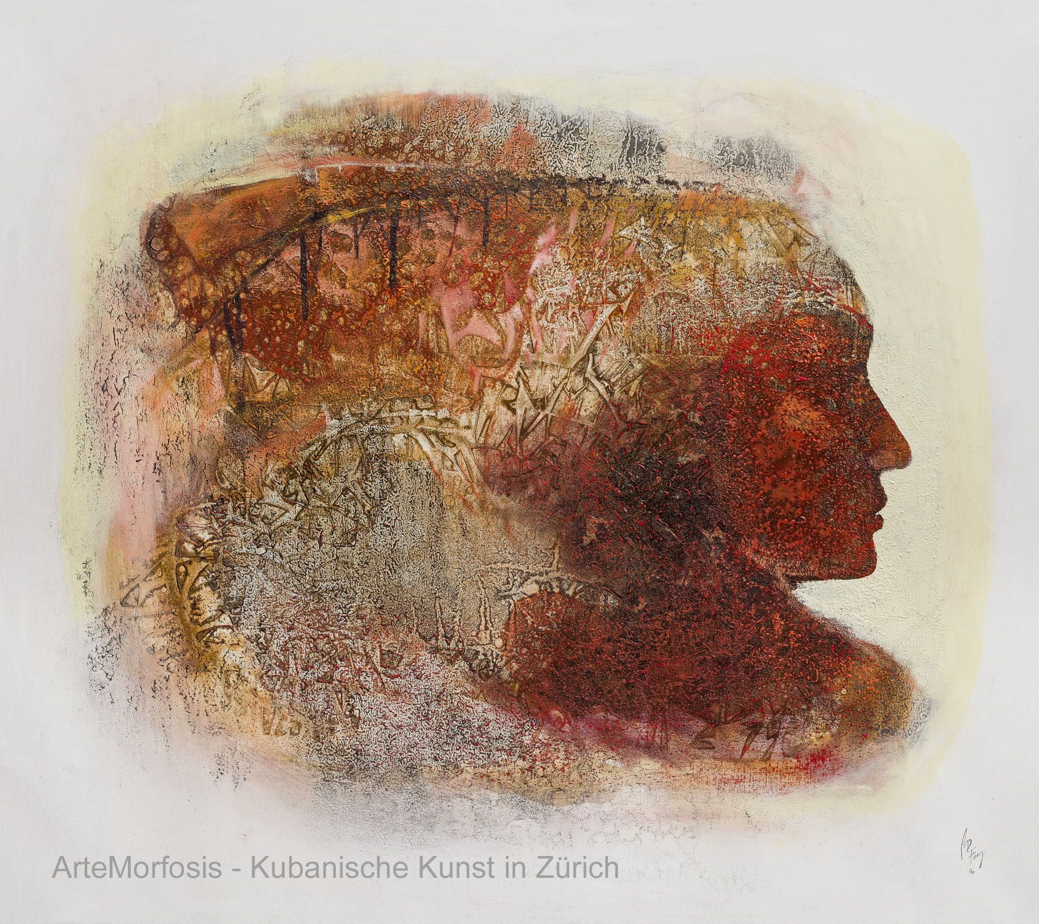 Li D Fong: Memorias / Memories - Mixed on Canvas - 2016 - 95 x 107 cm