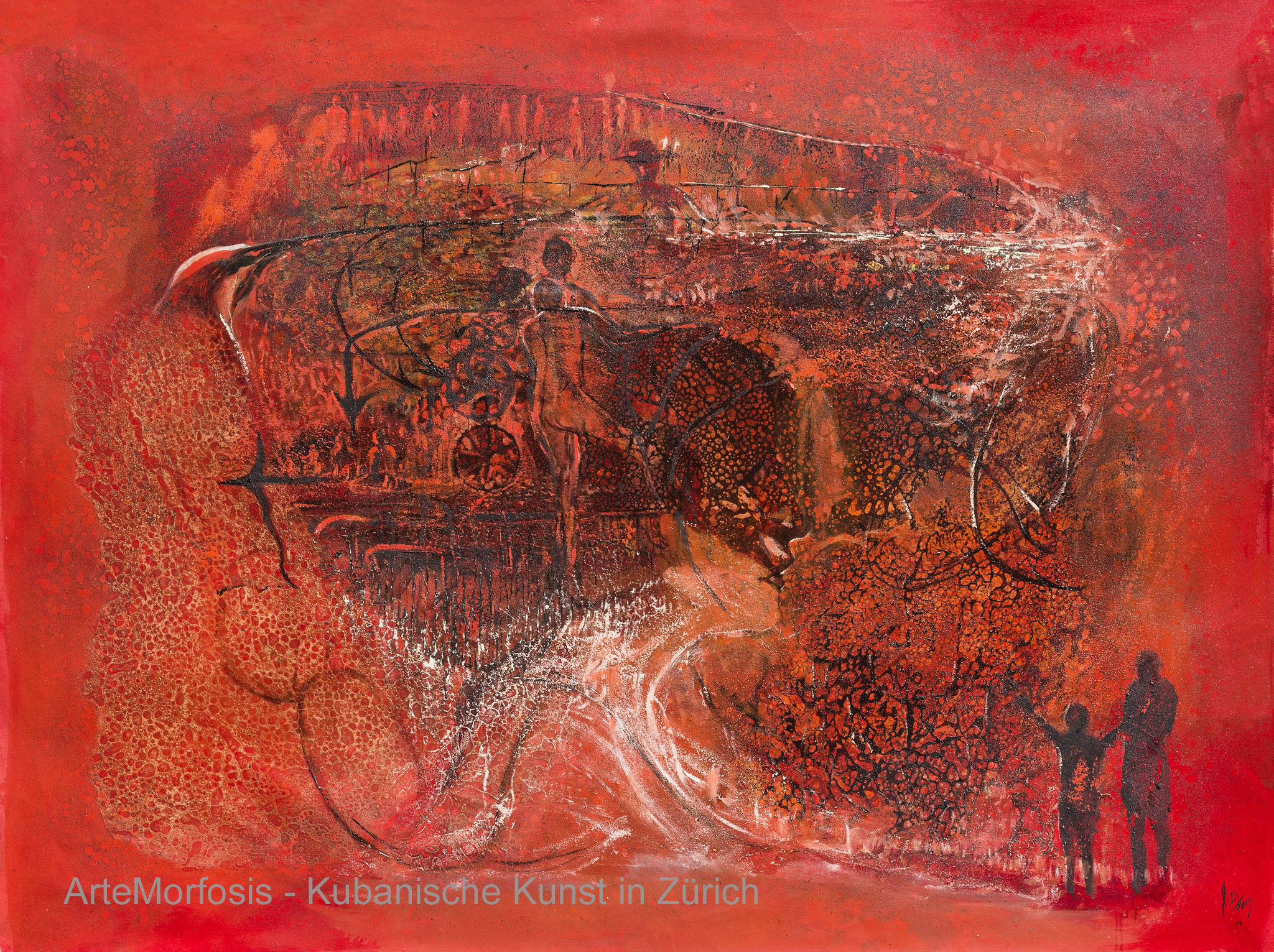 Li D Fong: Sueño rojo / Red Dream - 2016 - 143 x 190 cm