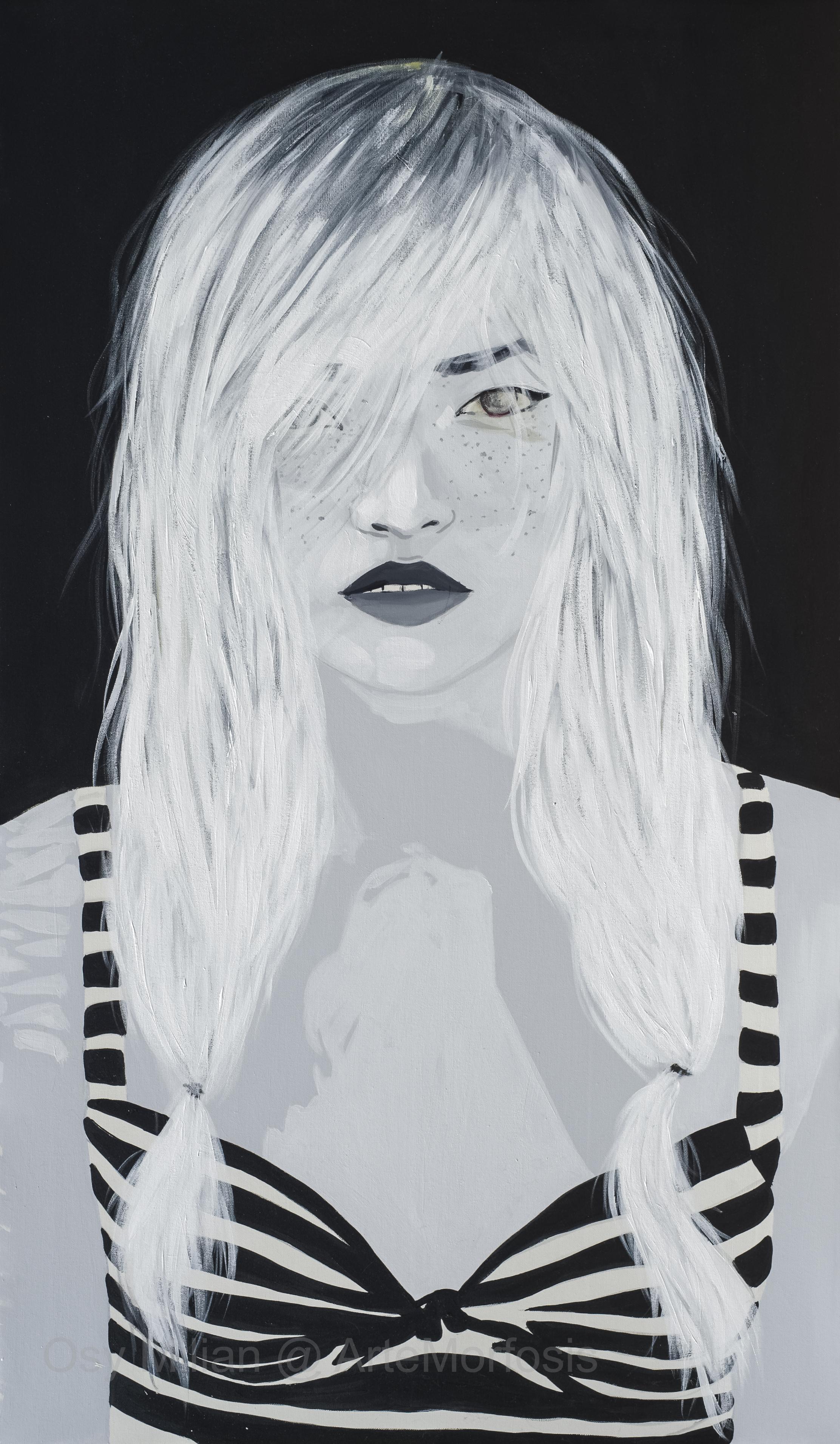 OSY MILIAN - Black, Acrilico/lienzo, 120 x 60 cm, 2017