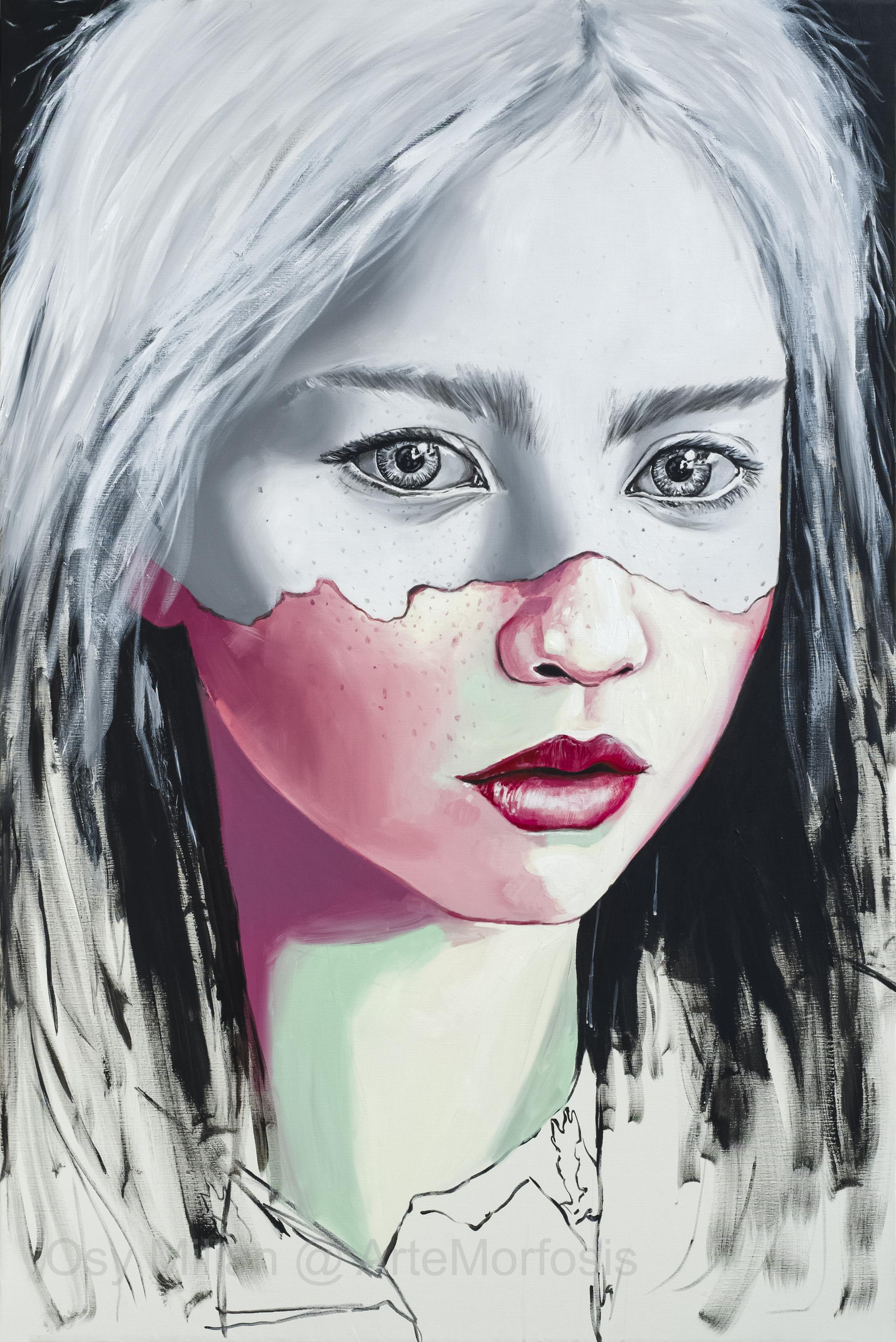 OSY MILIAN - Moi, Acrilico/lienzo, 150 x 100 cm, 2017